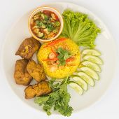 picture of gai  - Chicken Rice Curry With Coconut know as Koa Mook Gai in Thailand - JPG