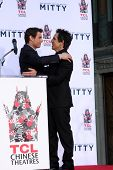 LOS ANGELES - DEC 3:  Tom Cruise, Ben Stiller at the Ben Stiller Handprint and Footprint Ceremony at