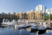 Marina And Luxury Flats, St Katharine Dock, London, England, Uk, Europe