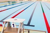 pic of swim meet  - Platform Number 1 for Start and Lane of Swimming Pool - JPG
