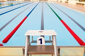 Outdoor Swimming Pool And Clearly Marked Lanes