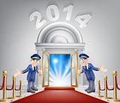 New Year Opportunity Door 2014