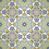 stock photo of ottoman  - Vintage Background Traditional Ottoman motifs - JPG