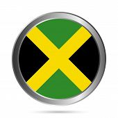 Jamaica Flag Button.