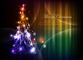 Christmas tree background made of lights