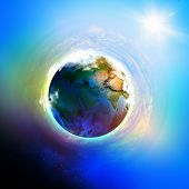Image of planet Earth planet. Save our planet. Elements of this image are furnished by NASA