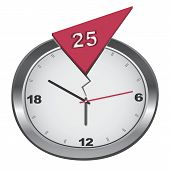 Vector cracked 25-hour clock