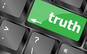 Truth Key On Keyboard - Business Concept