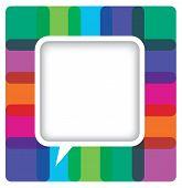 Colorful speech bubble card