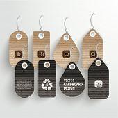 Vector Cardboard Labels