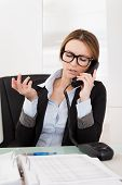 Businesswoman Talking On Telephone