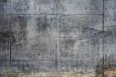 stock photo of bruises  - Grungy concrete wall - JPG