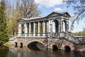 pic of sankt-peterburg  - Marble bridge in the Catherine Park Sankt - JPG
