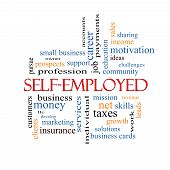 Self-employed Word Cloud Concept