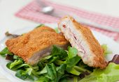 Cordon Bleu with salad