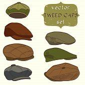 Tweed caps
