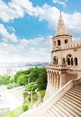 Fisherman's Bastion view in summer, Budapest