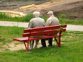 Two Old Man Sitting On The Bench