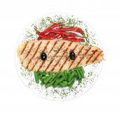 pic of pangasius  - Grilled pangasius fillet on plate - JPG