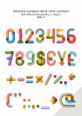 image of numbers counting  - Vector set  - JPG