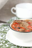 Dietary Pot Roast With Sweet Peppers, Onions, Sesame Seeds And Barberry.
