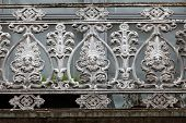 beautifully adorned iron balustrade of the balcony