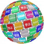 image of dialect  - Learn word translated different languages world diverse cultures dialects - JPG