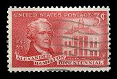 Us Postage Stamp Celebrating Alexander Hamilton