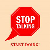 Stop talking vector poster