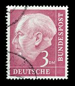 Theodor Heuss stamp 1954