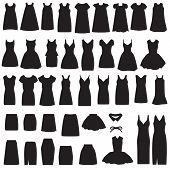 dress and skirt  silhouette
