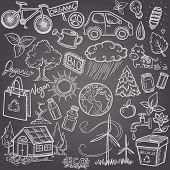 stock photo of poo  - Doodles eco icon set - JPG