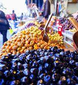 Olives at a market