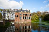 Neerijnen Castle in the village Neerijnen, the Betuwe, the Netherlands
