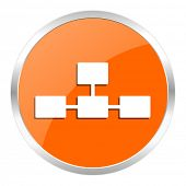 database orange glossy icon