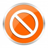 access denied orange glossy icon