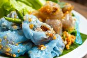 Steamed Rice-skin Dumplings And Tapioca Balls With Pork Filling.