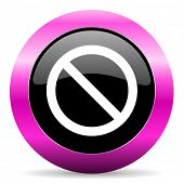 access denied pink glossy icon