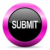 submit pink glossy icon
