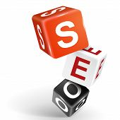 3D Dice Illustration With Word Seo