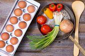 Preparing A Healthy Vegetarian Omelette