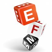 3D Dice Illustration With Word Efm
