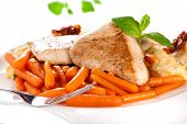 Cooked Meat With Carrots