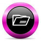 folder pink glossy icon