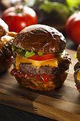 Homemade Cheeseburger Sliders With Lettuce