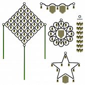 Set of five bell wind chimes poster