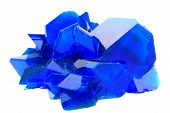 Blue Vitriol Mineral Isolated