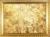 Golden frame with gold background.