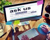 Digital Dictionary Ask Us Feedback Help Concept