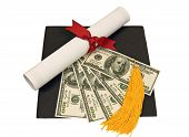 Graduation Hat With Money on Top